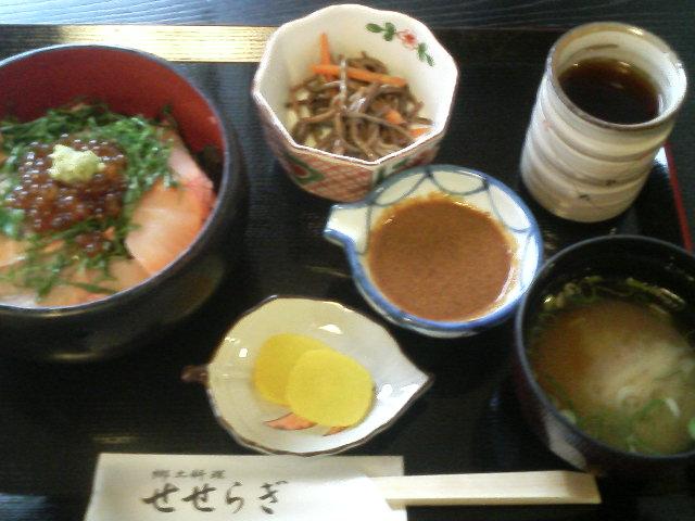 関金 湯命館で岩魚丼