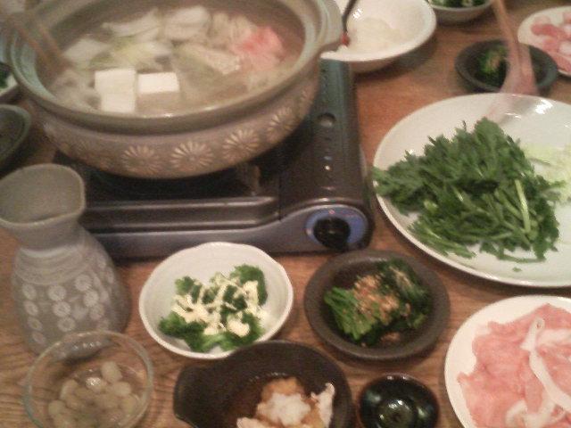 寒い日は鍋と熱燗〜?