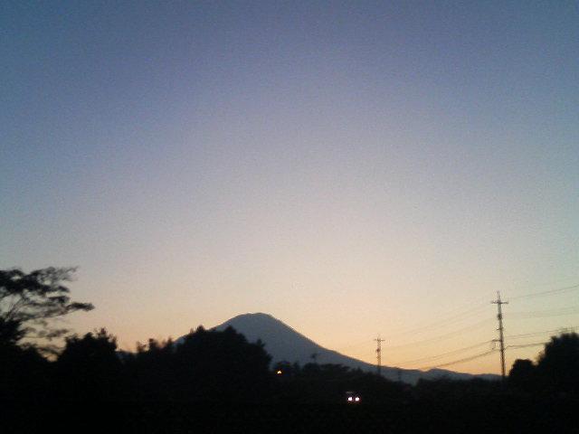 大山の夜明け