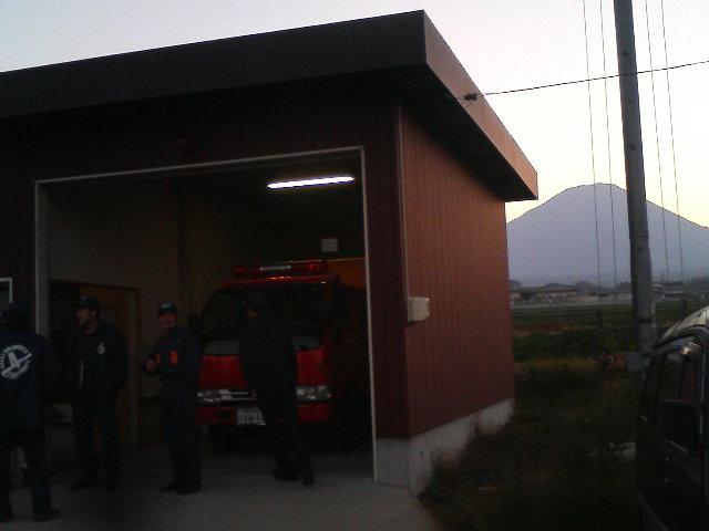 伯耆町消防団 非常呼集訓練