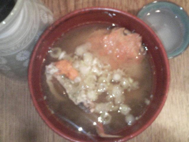 山陰名物・親ガニの味噌汁