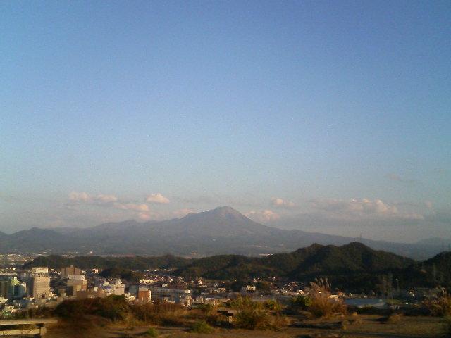 今、米子城跡にいます。