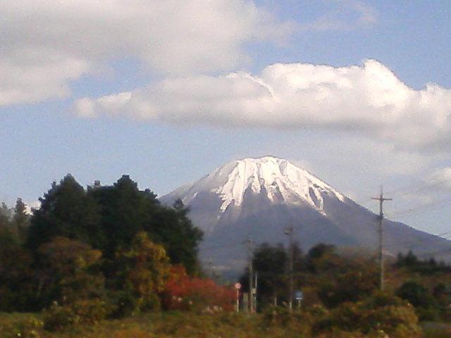 大山の冠雪が綺麗〜!