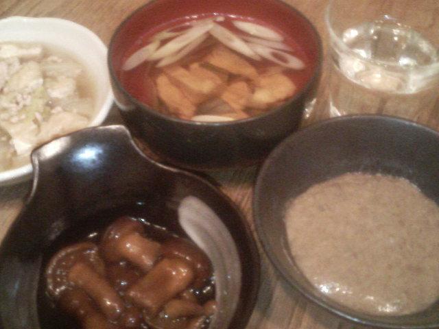 ナメコと自然薯、最高〜!