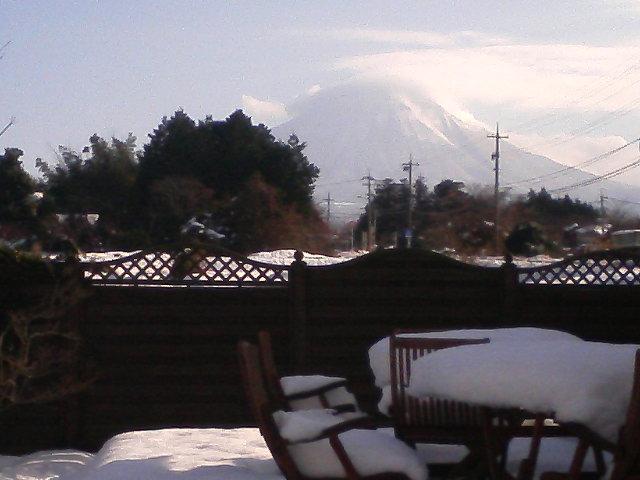 新年初お目見えの大山