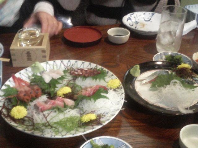 日本酒で乾杯・・・(涙)