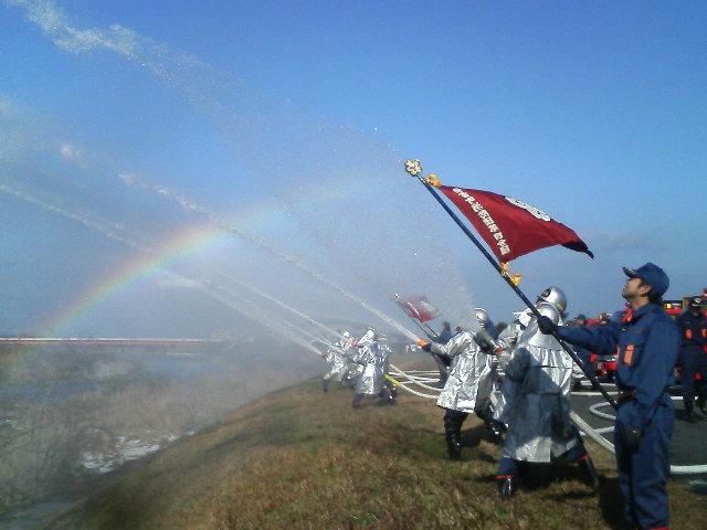 伯耆町消防団出初式