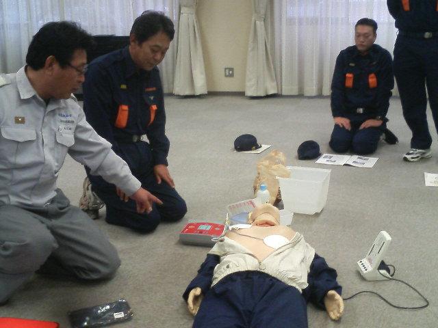 心肺蘇生法・AEDの講習