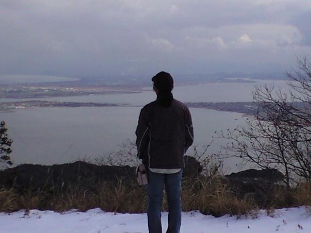 枕木山テレビ塔にて