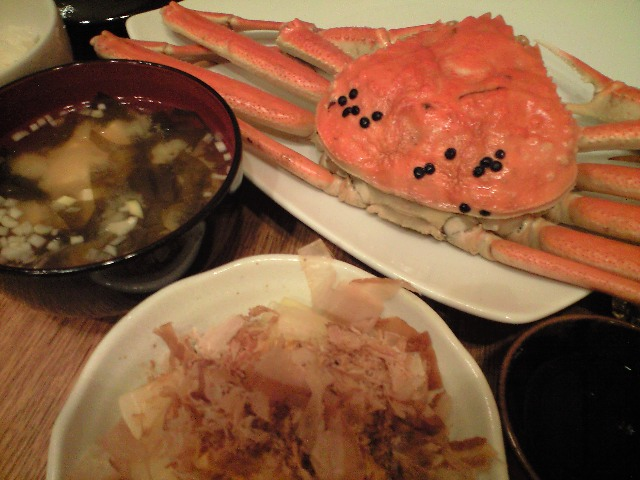 川口商店の松葉蟹