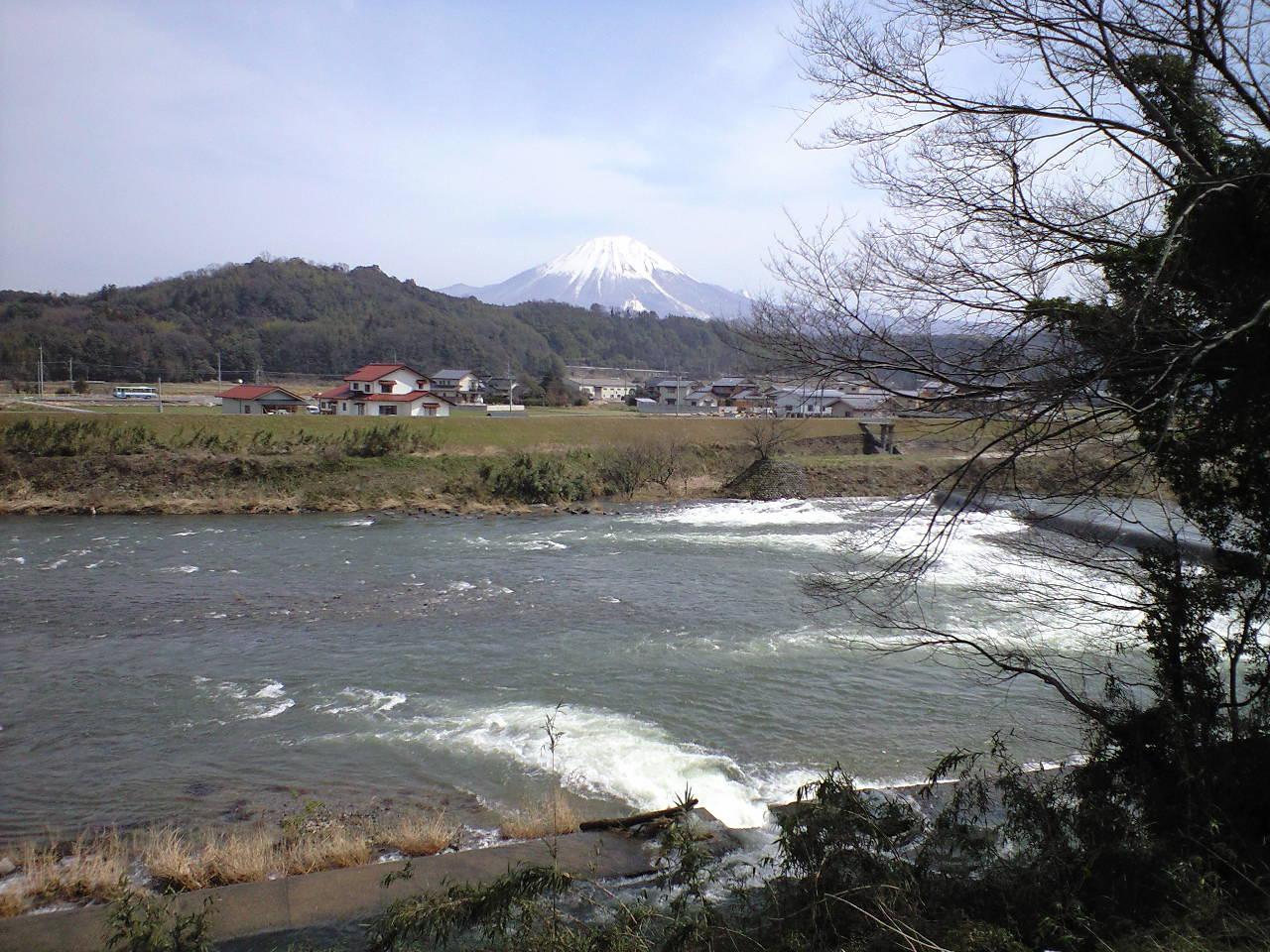 日野川沿いを日本海までウオーキング