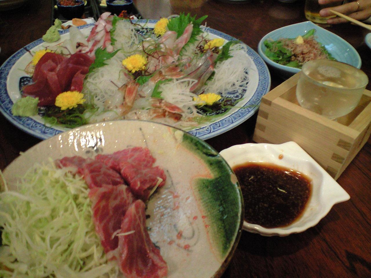 日本海の幸と地酒で乾杯〜!