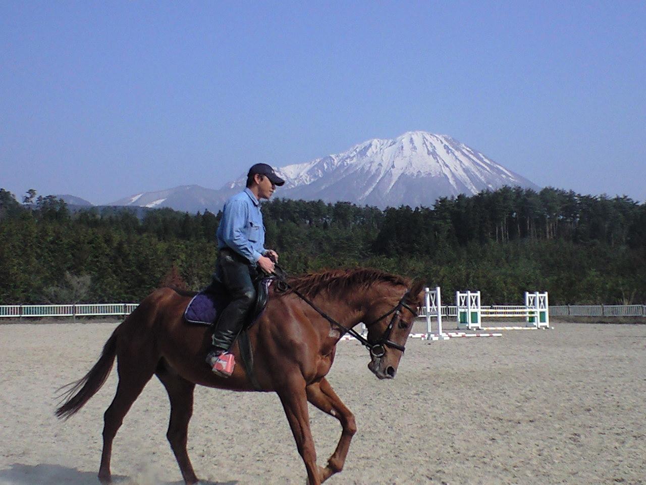 馬に乗って風を感じるフリーダム
