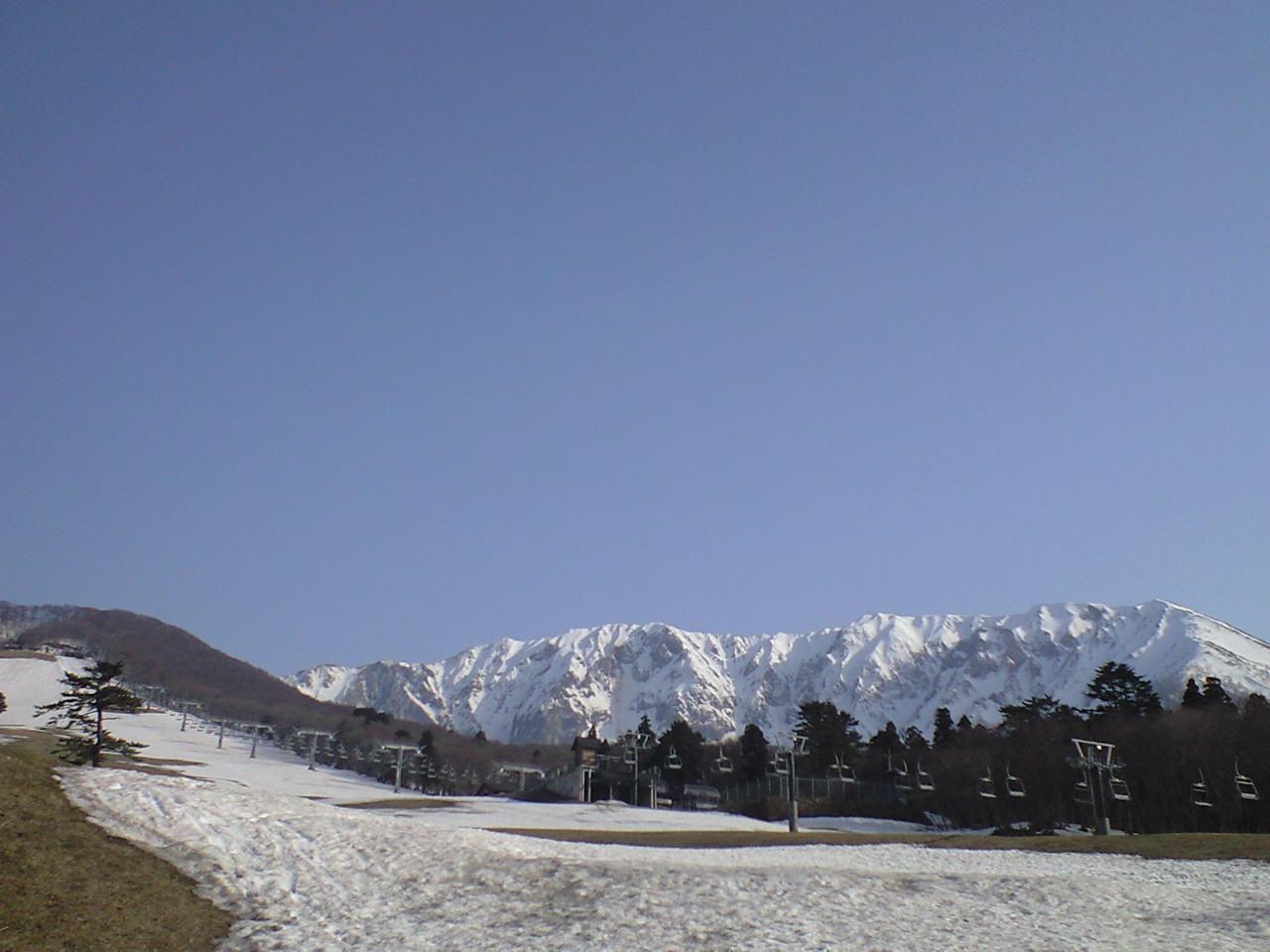 スキー場にも春。