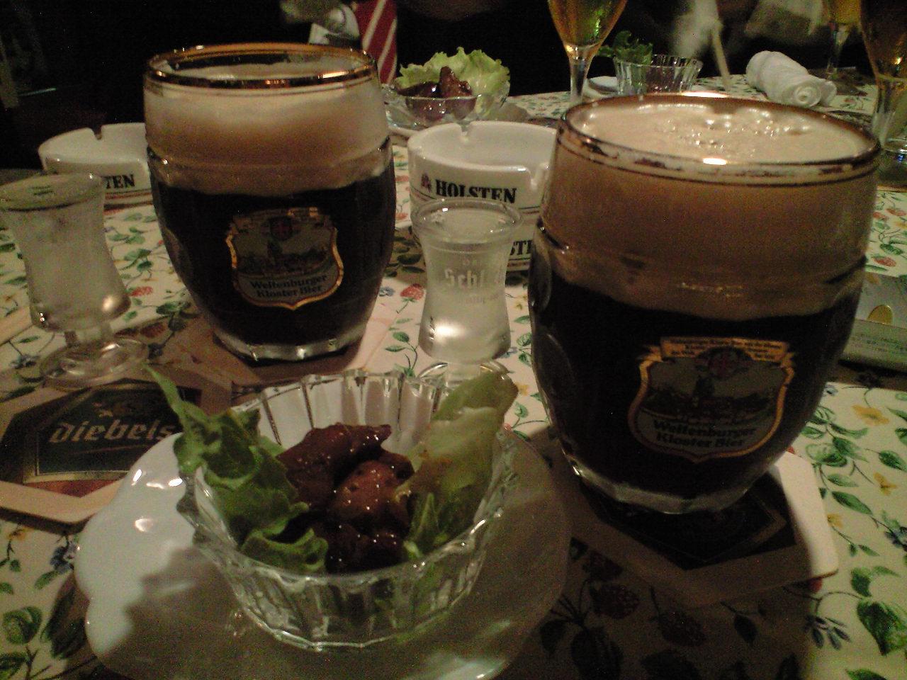 ビールで乾杯〜!?