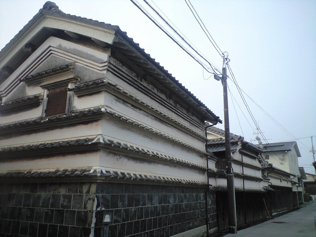 高知県 吉良川 土佐漆喰の街並み保存