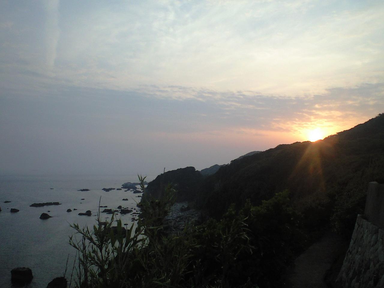 四国最南端 足摺岬からの夕日