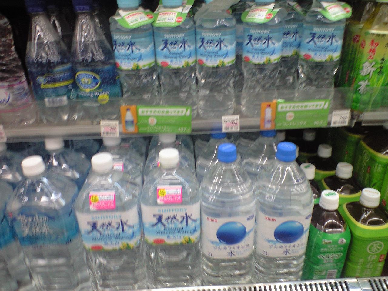 大阪市内のコンビニで奥大山の水が!