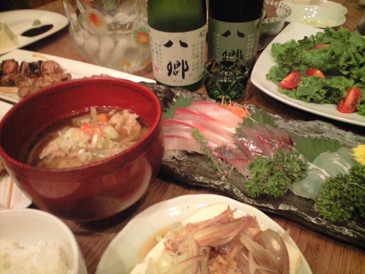 山陰の魚と日本酒と