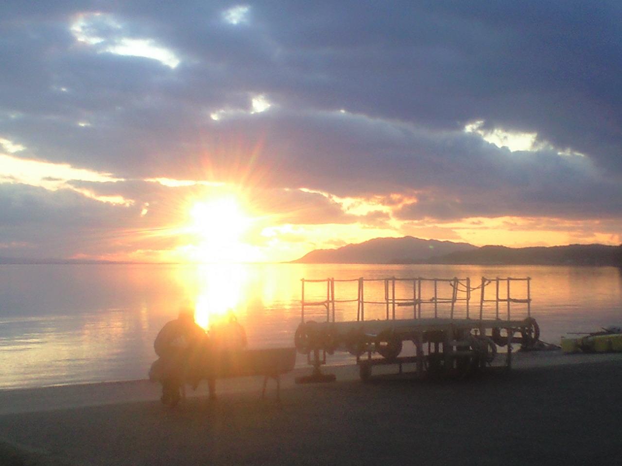 だんだん宍道湖の夕日