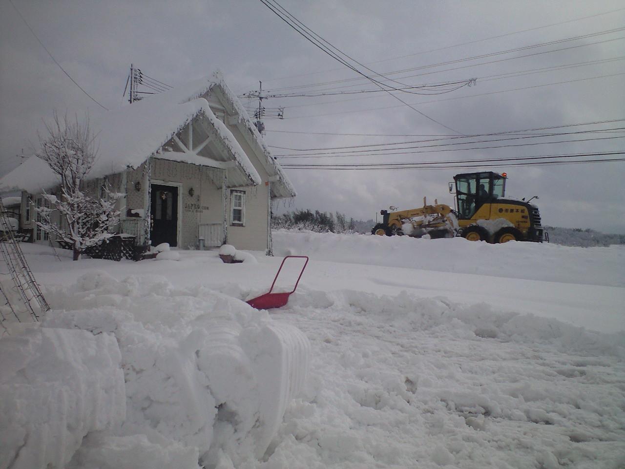 大山王国事務所の雪かき