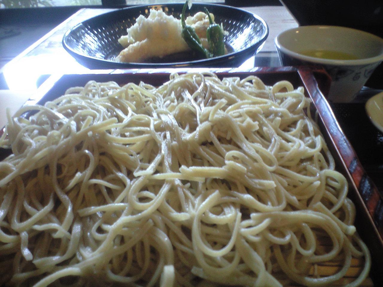 穴子天おろし・ざる蕎麦