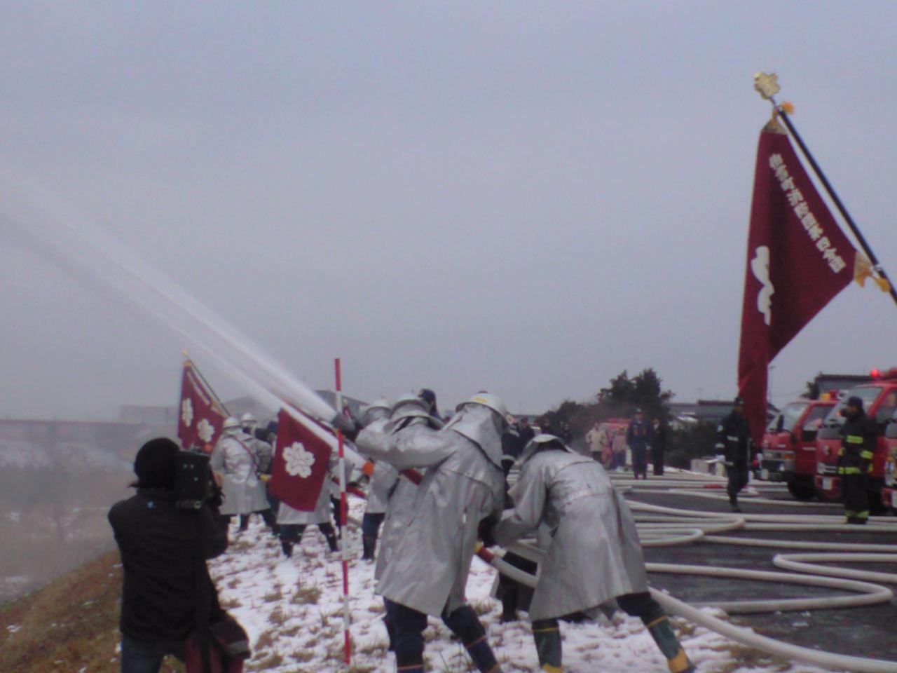 消防団出初め式