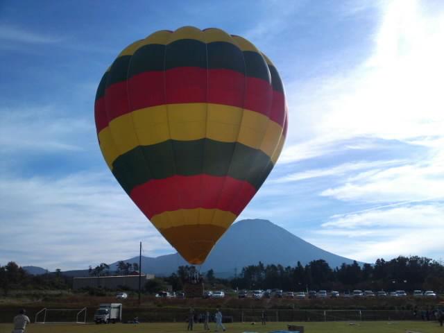 大山ふもとで熱気球を♪