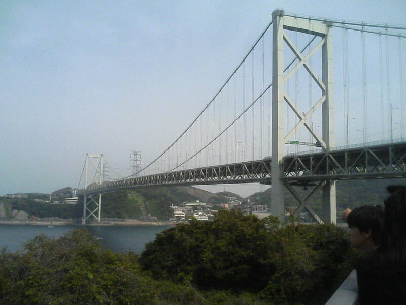 関門橋まで、帰ってきました〜!