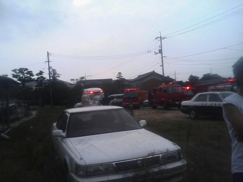 今日も火災発生、ただいま鎮火しました。