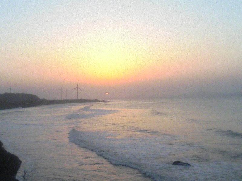 島根半島に沈む夕日