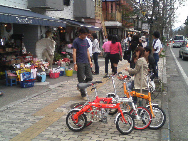 軽井沢で遊んでます。