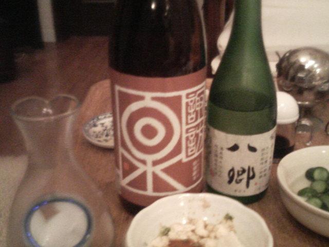 日本酒でカンパーイ!