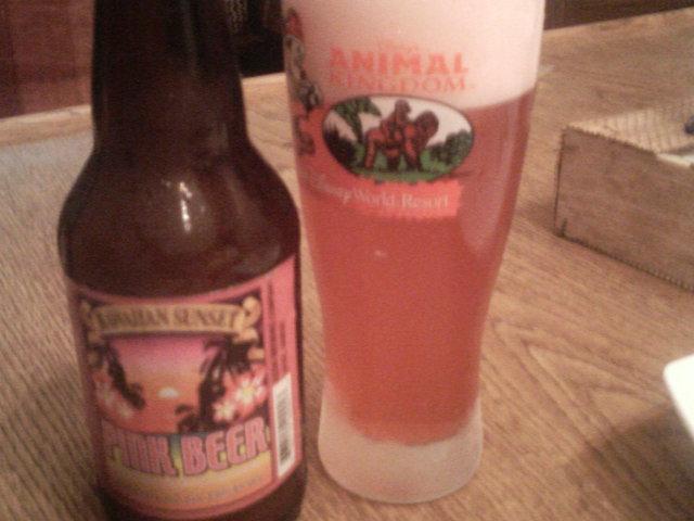 ピンクビール!?